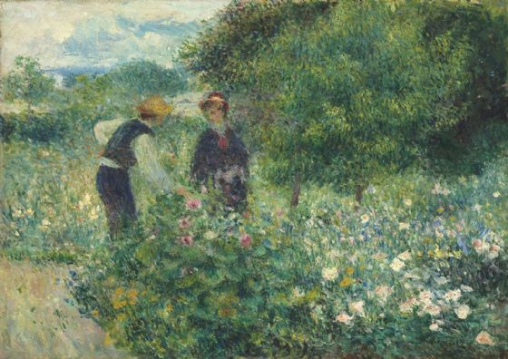 Renoir, Pierre Auguste: Picking Flowers. Fine Art Print/Poster. Sizes: A4/A3/A2/A1 (003963)